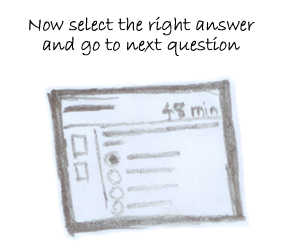 Select the right answer in ipractice.in